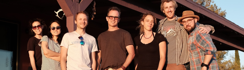 Group photo on desert retreat