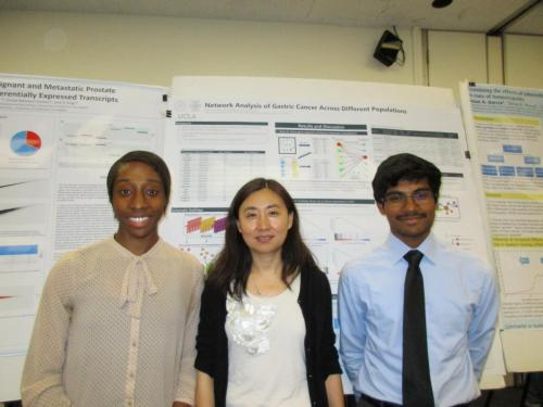 BIG Summer 2016 poster session photo 1, Xia Yang and students