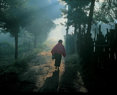 On a path in Nabenchauk, 1991.